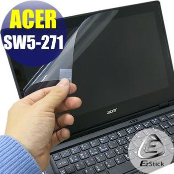 【EZstick】ACER Swtich 12 SW5-271 專用 靜電式筆電LCD液晶螢幕貼 (鏡面防汙螢幕貼)