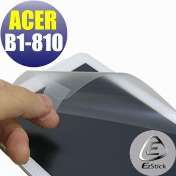 【EZstick】ACER Iconia One 8 B1-810  專用 靜電式平板LCD液晶螢幕貼 (鏡面防汙螢幕貼)