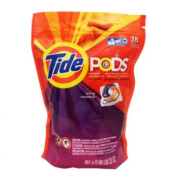 美國原裝Tide Pods汰漬洗衣凝膠球3效合1(38入*2)
