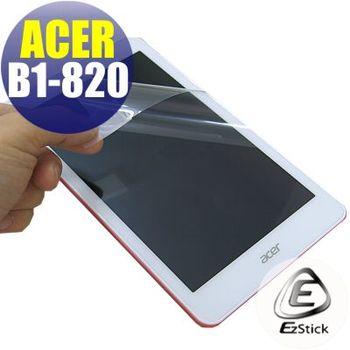 【EZstick】ACER Iconia One 8 B1-820 專用  靜電式平板LCD液晶螢幕貼 (鏡面防汙螢幕貼)