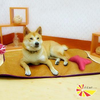 【凱蕾絲帝】臺灣製造 寵物紙纖透氣止滑鋪棉睡墊(小狗狗專用)