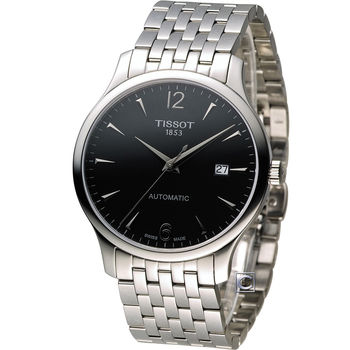 TISSOT T-TRADITION 極簡雅士時尚機械腕錶 T0634071105700 黑