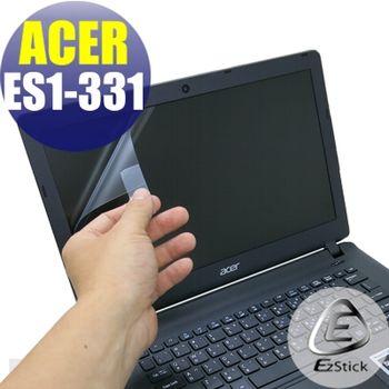 【EZstick】ACER Aspire E13 ES1-331 專用 靜電式筆電LCD液晶螢幕貼 (霧面螢幕貼)