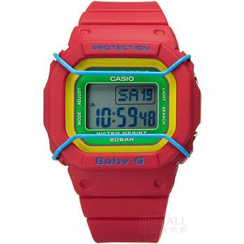 Baby-G CASIO / BGD-501-4B 卡西歐潮流撞色普普電子橡膠腕錶 紅色 38mm