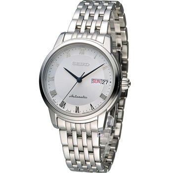 精工 SEIKO Presage 羅馬經典機械女用腕錶 4R36-04F0S SRP887J1 白