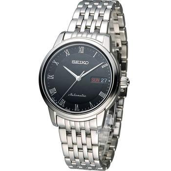 精工 SEIKO Presage 羅馬經典機械女用腕錶 4R36-04F0D SRP885J1黑
