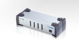 ATEN  4PC:1 DVI+音訊切換器 VS461