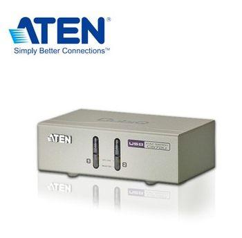 ATEN 2埠 USB KVM多電腦切換器 (按鍵切換,non-HotKey)