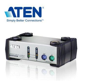 ATEN 2埠 PS/2 KVM 多電腦切換器 (CS82A)