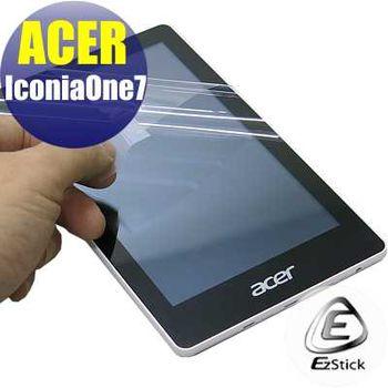 【EZstick】ACER Iconia One 7 7吋 TD070VA1 專用 靜電式平板LCD液晶螢幕貼 (高清霧面螢幕貼)