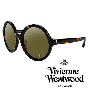 Vivienne Westwood 英國薇薇安魏斯伍德潮圓形復古個性太陽眼鏡(琥珀紅)VW88802