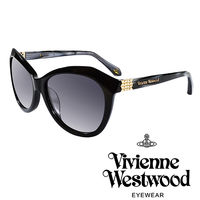 Vivienne Westwood 英國薇薇安魏斯伍德不規則幾何 太陽眼鏡 ^#40 黑