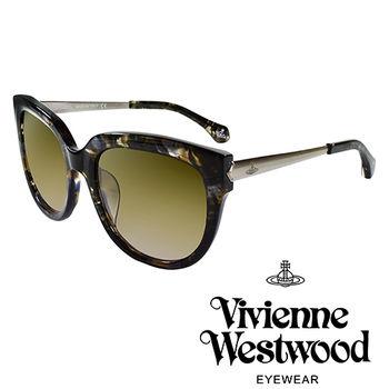 Vivienne Westwood 英國薇薇安魏斯伍德經典土星銀邊太陽眼鏡(琥珀黑)VW88203