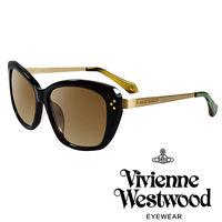 Vivienne Westwood 英國薇薇安魏斯伍德 LOGO金邊太陽眼鏡 ^#40 綠