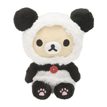 San-X 拉拉熊我愛大貓熊系列坐姿公仔 懶妹