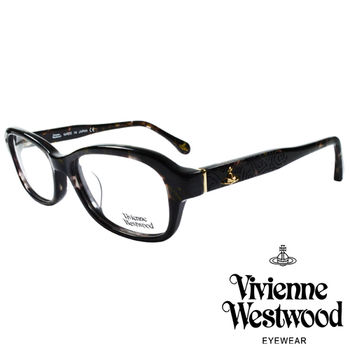 Vivienne Westwood 英國薇薇安魏斯伍德搖滾線條壓紋光學眼鏡(咖琥珀)VW31804