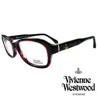 Vivienne Westwood 英國薇薇安魏斯伍德搖滾線條壓紋光學眼鏡 ^#40 紅琥