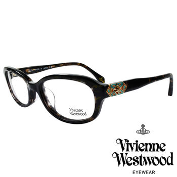 Vivienne Westwood 英國薇薇安魏斯伍德多彩幾何造型光學眼鏡(咖琥珀)VW31704