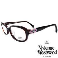 Vivienne Westwood 英國薇薇安魏斯伍德多彩幾何 光學眼鏡 ^#40 咖啡紅