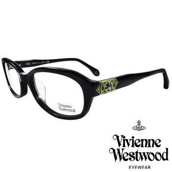 Vivienne Westwood 英國薇薇安魏斯伍德多彩幾何造型光學眼鏡(黑)VW31701
