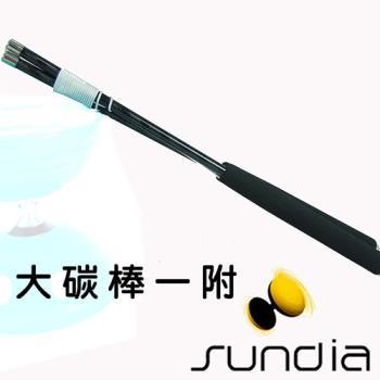 【三鈴SUNDIA】台灣製造 扯鈴用專業鈴棒/鈴棍--不易長繭35cm大碳棒(附繩)