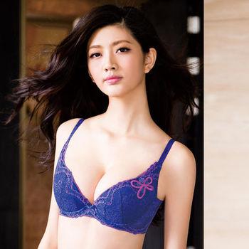 華歌爾-深V感瘦綺肌A-C罩杯內衣(彩繪紫)