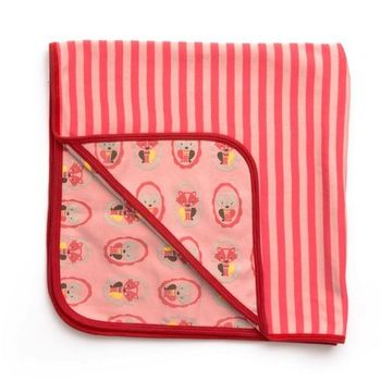 【英國Little Green Radicals】有機棉嬰兒毯-棉毯-包巾(早秋款-貓咪)