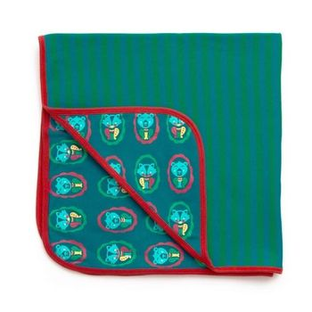 【英國Little Green Radicals】有機棉嬰兒毯-棉毯-包巾(早秋款-小熊)