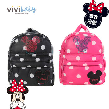 【ViVibaby】迪士尼空氣媽媽包-防走失包(粉/黑)