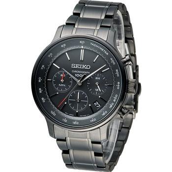 SEIKO CS系列競速計時腕錶 8T63-00A0SD SSB167P1 全黑
