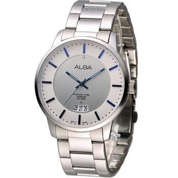 ALBA 雅柏 超人氣潮流魅力腕錶 VJ42-X160S AS9A35X1 銀色x白色