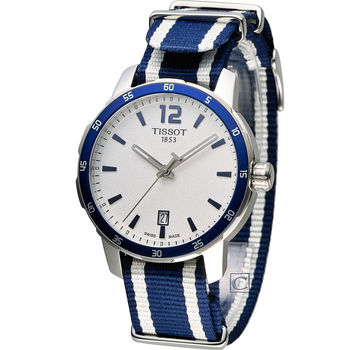 TISSOT T-SPORT 天梭時尚經典運動腕錶 T0954101703701 藍色x白色