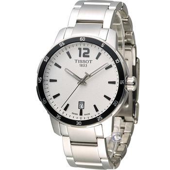 TISSOT T-SPORT 天梭時尚經典運動腕錶 T0954101103700 白