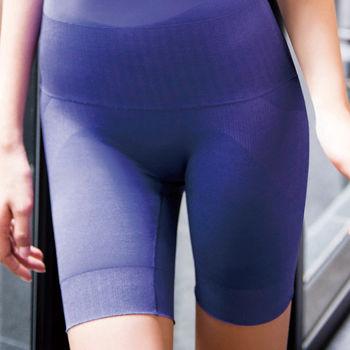 華歌爾-玫瑰果油美肌好享受64-82長褲管修飾褲(彩繪紫)