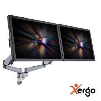 Xergo雙螢幕彈簧臂夾桌支撐架(終身保固)-EM45116