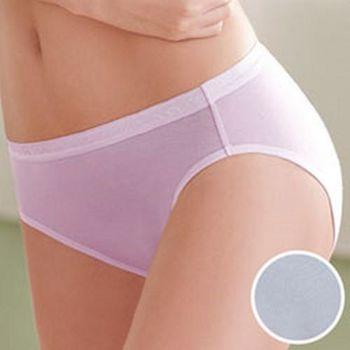 環保天然纖維天絲內褲M-LL中腰三角褲(冰點藍)