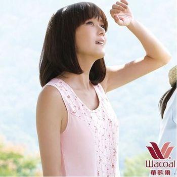 環保有機棉植物印素面M-3L圓領洋裝(茜草粉)