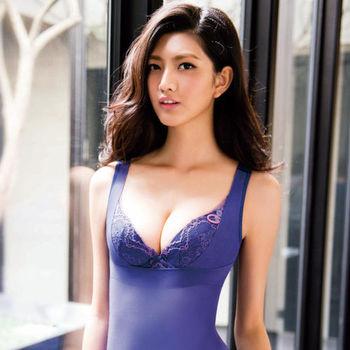 華歌爾-玫瑰果油美肌好享受64-82防駝輕塑衣(彩繪紫)