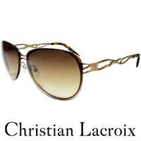 Christian Lacroix 低調 風格太陽眼鏡 金色 #43 琥珀 CL8002