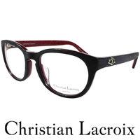 Christian Lacroix 獨特華貴木質紋眼鏡 黑 ^#43 紅 CL2006 ^