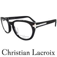 Christian Lacroix 華麗風格十字架木質紋眼鏡 黑色 CL2003 ^#45