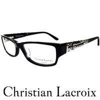 Christian Lacroix 低調金屬簍空十字架風格眼鏡 黑色 CL1009 ^#4