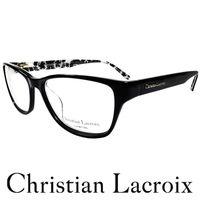Christian Lacroix 浪漫瑰麗風格眼鏡 黑色 CL1004 #45 027