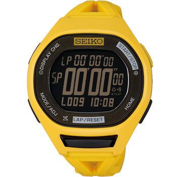 SEIKO Super Runners專業路跑限量錶款 S611-00A0Y SBEG015J 黃