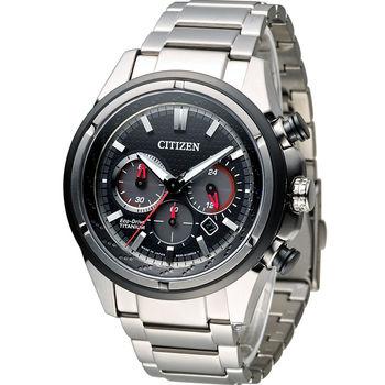 星辰 CITIZEN Eco-Drive 超級鈦紳士計時腕錶 CA4241-55E 黑