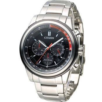 星辰 CITIZEN Eco-Drive 征服急速計時腕錶 CA4034-50F 黑