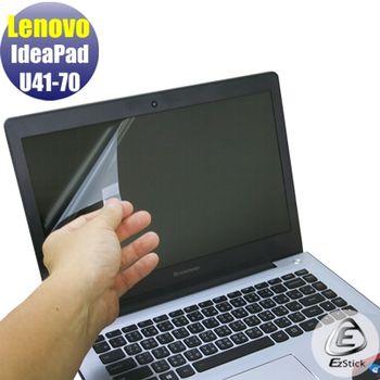 【EZstick】Lenovo IdeaPad U41-70 專用 靜電式筆電LCD液晶螢幕貼 (霧面螢幕貼)