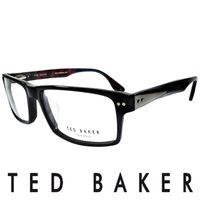 TED BAKER 倫敦 都會彩紋 眼鏡 ^#40 黑 ^#41 TB8068 ^#45