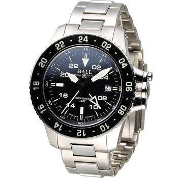 BALL Watch AeroGMT 兩地時間飛行機械腕錶 DG2016A-SCJ-BK 黑