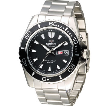 東方錶 ORIENT 200米怒海潛將潛水錶  黑